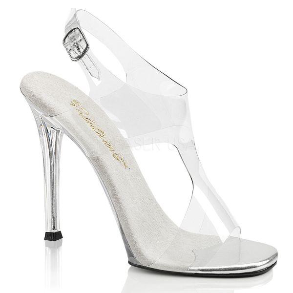 Durchsichtige High Heel Riemchen Sandalette GALA-07